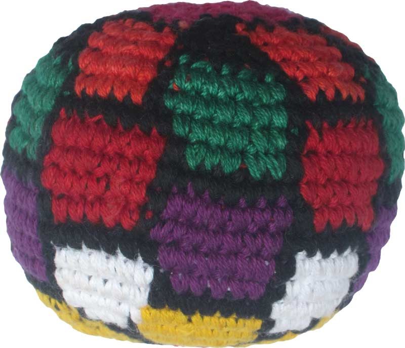 Colorful Soccer Ball Hacky Sack Global Village Imports